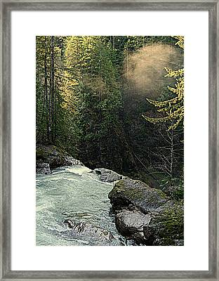 Top Of The Falls Framed Print by Lynn Bawden