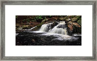 Top Of The Falls Framed Print by Mike Farslow