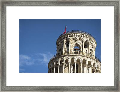 Top Of The Leaning Tower Of Pisa Framed Print