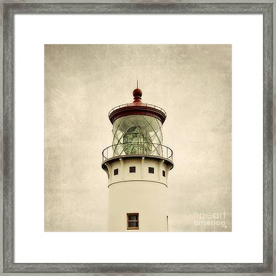 Top Of The Lighthouse Framed Print by Scott Pellegrin