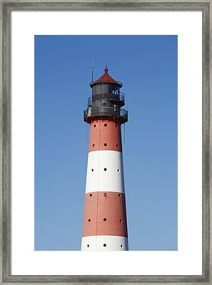 Top Of The Lighthouse Westerhever Framed Print by Olaf Schulz