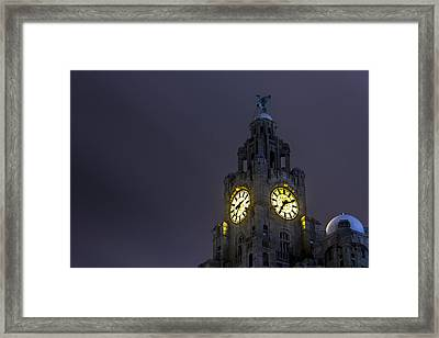 Top Of The Liver Building Tower Framed Print by Paul Madden