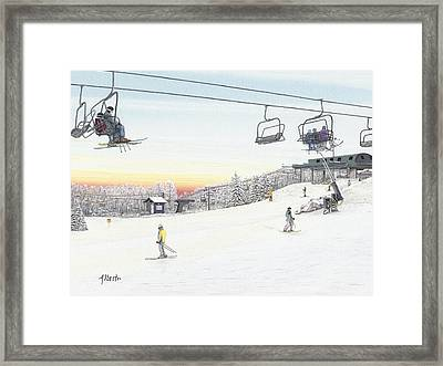 Top Of The Mountain At Seven Springs Framed Print by Albert Puskaric