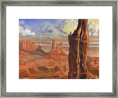 Top Of The Mountains Framed Print by Jeff Brimley