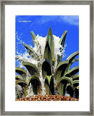 Top Of The Pineapple Fountain Framed Print by Tammy Wallace