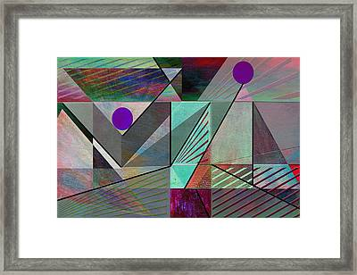 Top Of The Pyramid Framed Print by Linda Dunn