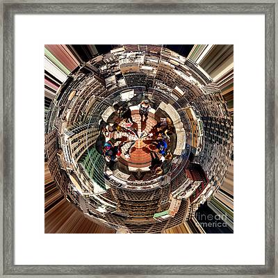 Top Of The Rock Circagraph  Framed Print by Az Jackson