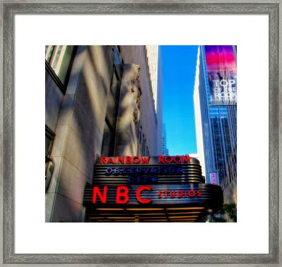 Top Of The Rock Tour In New York City Framed Print by Dan Sproul