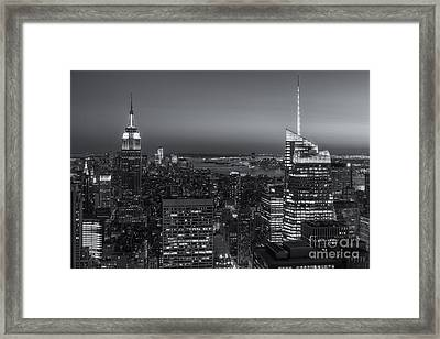 Top Of The Rock Twilight V Framed Print by Clarence Holmes