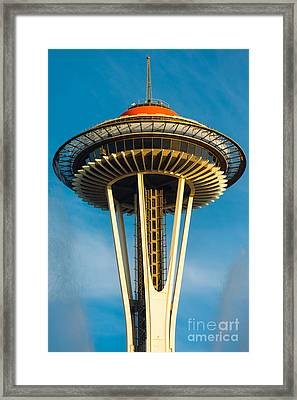 Top Of The Space Needle Framed Print by Inge Johnsson