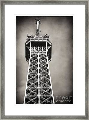 Top Of The Tower Framed Print by John Rizzuto
