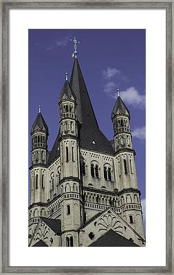 Top Of The Tower Framed Print by Teresa Mucha