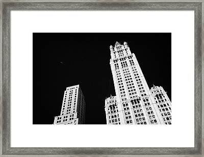 top of the Woolworth building 233 Broadway and transportation new york Framed Print by Joe Fox