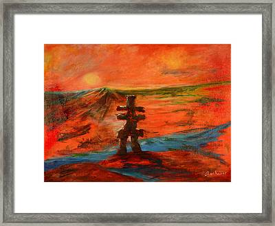 Top Of The World Framed Print by Sher Nasser