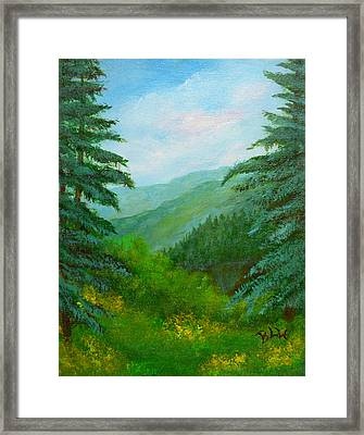 Top Of Themountain Framed Print by Barbara Willms