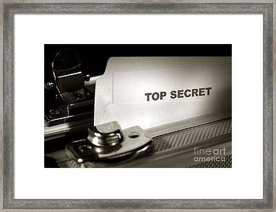 Top Secret Document In Armored Briefcase Framed Print by Olivier Le Queinec