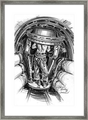 Top Turret B-17 1943 Framed Print