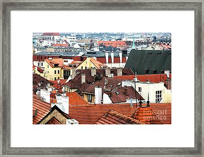 Top View In Prague Framed Print by John Rizzuto