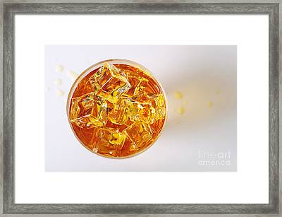 Top View On Drink Framed Print
