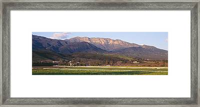 Topa Topa Bluffs Overlooking Ranches Framed Print by Panoramic Images
