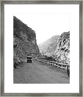 Topanga Canyon Road In La Framed Print