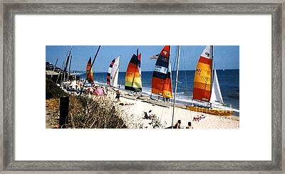 Topanga South Yacht Club Malibu Framed Print