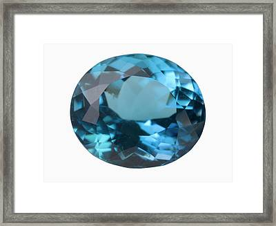 Topaz Gem Framed Print by Science Stock Photography/science Photo Library