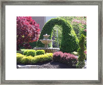 Topiary Garden Framed Print by Lyric Lucas
