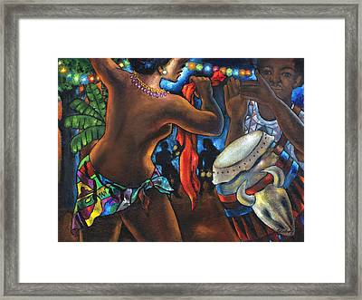 Framed Print featuring the painting Topless Dancer by Artists With Autism Inc