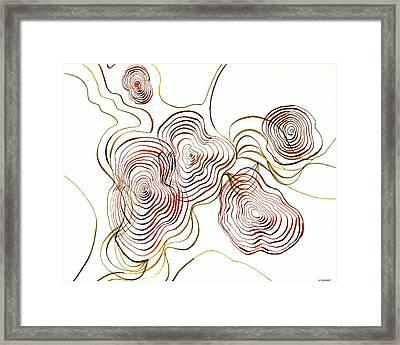 Topo Framed Print
