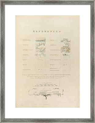 Topographical Features Framed Print by British Library