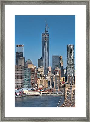 Topping Out Framed Print