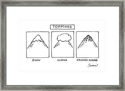 Toppings Framed Print