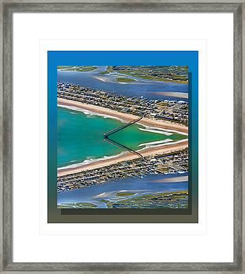 Topsail Beach Aerial Reflection Framed Print