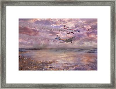 Topsail Flyers Framed Print by Betsy Knapp