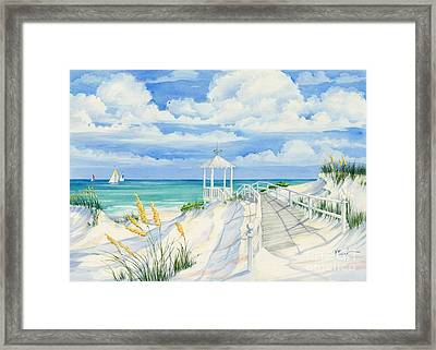Topsail Hill Framed Print by Paul Brent