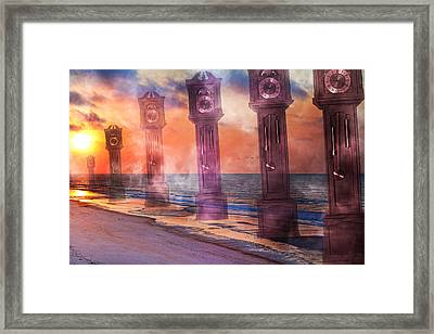 Topsail Island A Matter Of Time Framed Print by Betsy Knapp