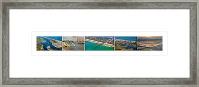 Topsail Island Aerial Panels Framed Print by Betsy Knapp