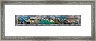 Topsail Island Aerial Panels II Framed Print by Betsy Knapp