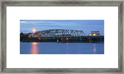 Topsail Island Bridge Framed Print