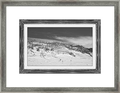 Topsail Island Day Of The Dunes  Framed Print by Betsy Knapp