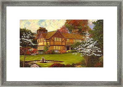 Framed Print featuring the painting Topsmeade House by Rick Fitzsimons