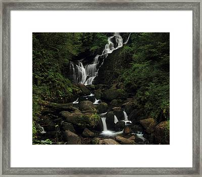Torc Waterfall Framed Print by Peter Skelton