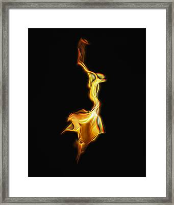 Torch In The Wind Framed Print