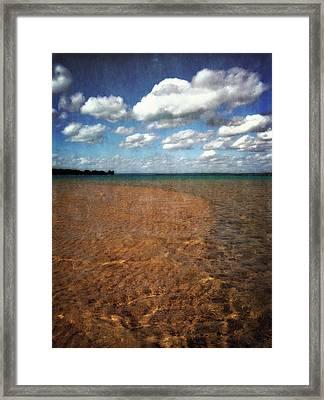 Torch Lake Sandbar 2.0 Framed Print by Michelle Calkins