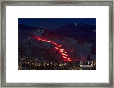 Torch Run Framed Print