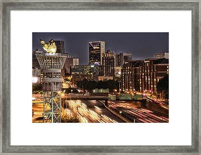 Torching Atlanta Framed Print by Lisa Marie Pane