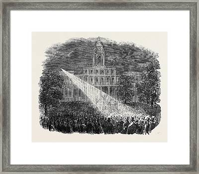 Torchlight Meeting Of Know-nothings At New York Framed Print by Eamerican School