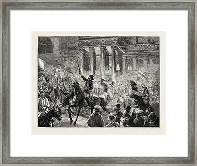 Torchlight Procession Of Students At Berlin Congratulating Framed Print by German School