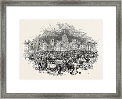 Torchlight View Smithfield, London, England Framed Print by Litz Collection